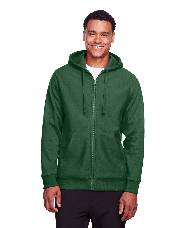 Team 365 Men's Zone HydroSport™ Heavyweight Full-Zip Hooded Sweatshirt SPORT DARK GREEN