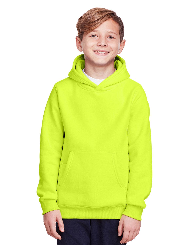 Team 365 Youth Zone HydroSport™ Heavyweight Pullover Hooded Sweatshirt SAFETY YELLOW