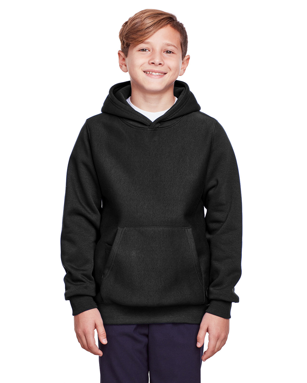 Team 365 Youth Zone HydroSport™ Heavyweight Pullover Hooded Sweatshirt BLACK