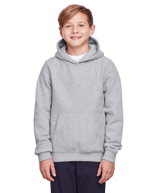 Team 365 Youth Zone HydroSport™ Heavyweight Pullover Hooded Sweatshirt ATHLETIC HEATHER