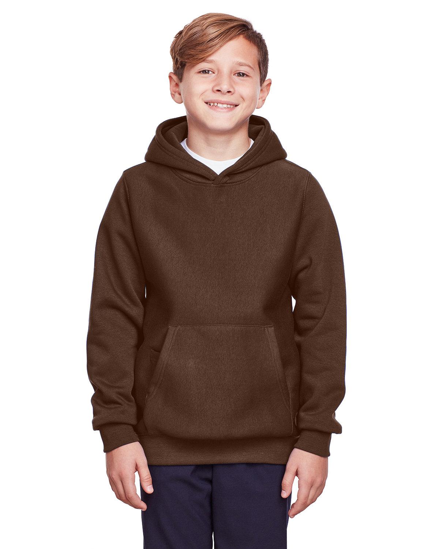 Team 365 Youth Zone HydroSport™ Heavyweight Pullover Hooded Sweatshirt SPORT DARK BROWN