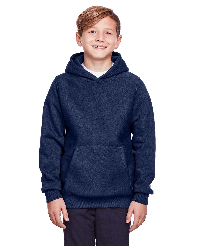 Team 365 Youth Zone HydroSport™ Heavyweight Pullover Hooded Sweatshirt SPORT DARK NAVY