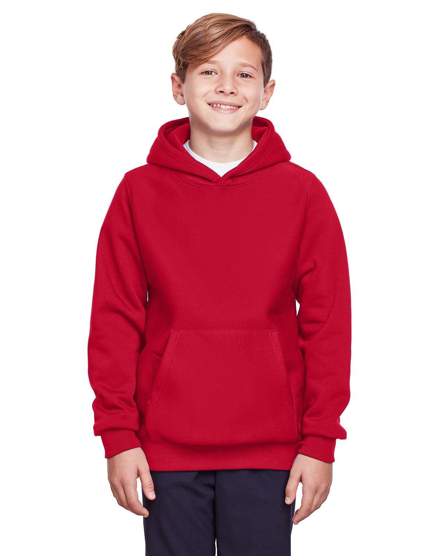 Team 365 Youth Zone HydroSport™ Heavyweight Pullover Hooded Sweatshirt SPORT RED