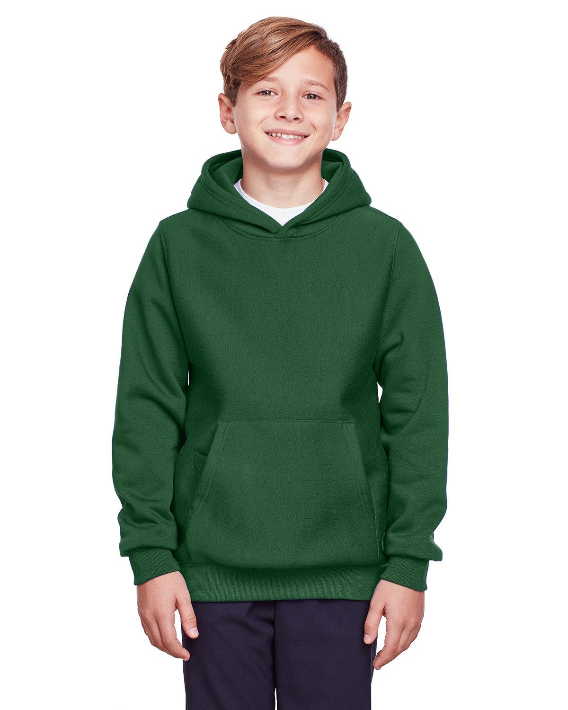 Team 365 Youth Zone HydroSport™ Heavyweight Pullover Hooded Sweatshirt SPORT DARK GREEN