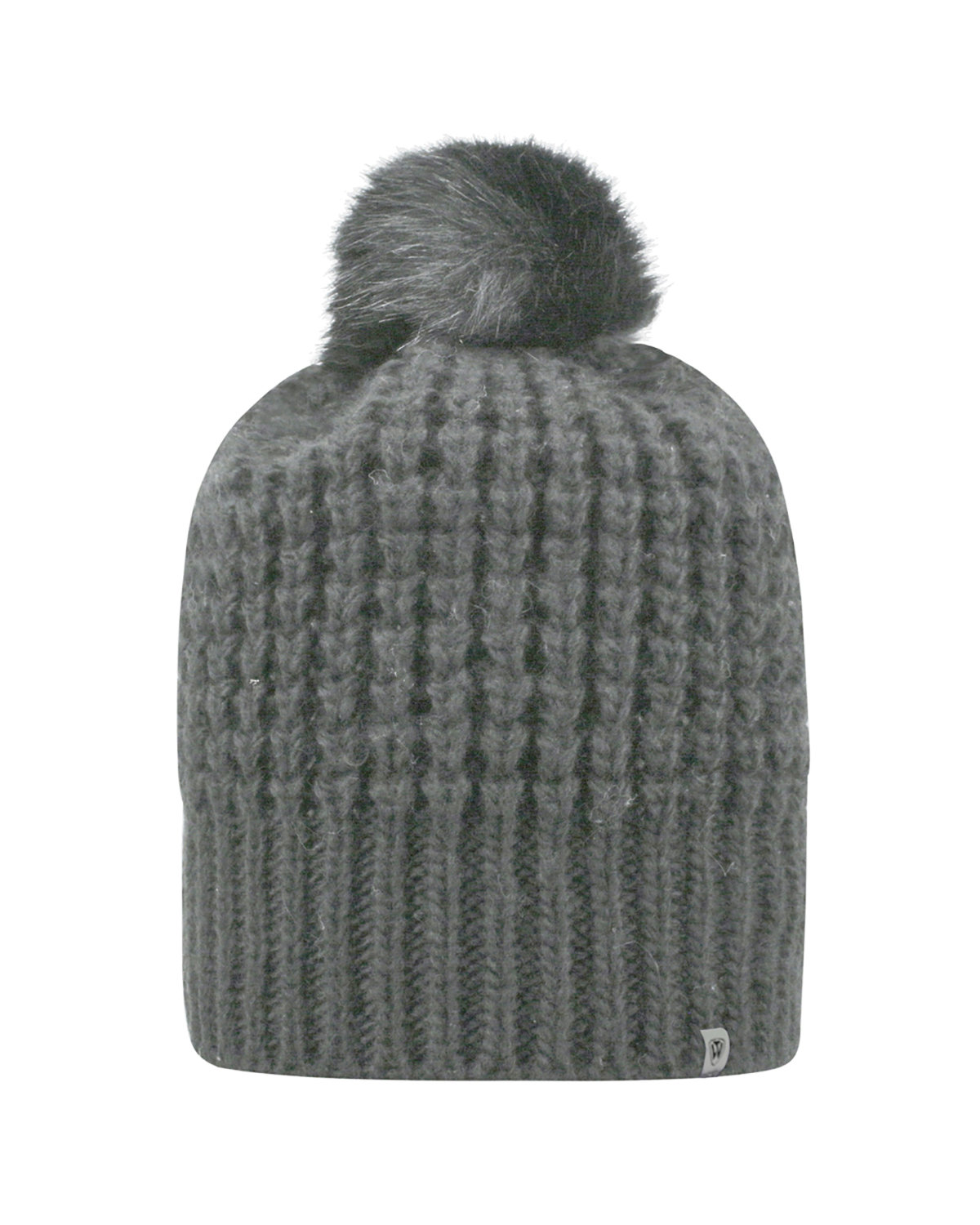 Top Of The World Adult Slouch Bunny Knit Cap GREY