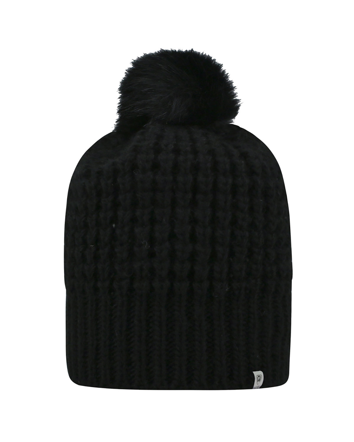 Top Of The World Adult Slouch Bunny Knit Cap BLACK