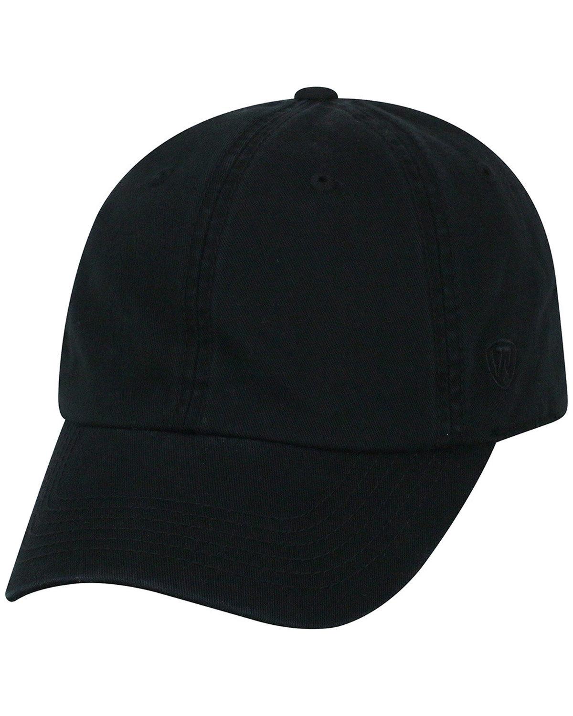 Top Of The World Adult Crew  Cap BLACK