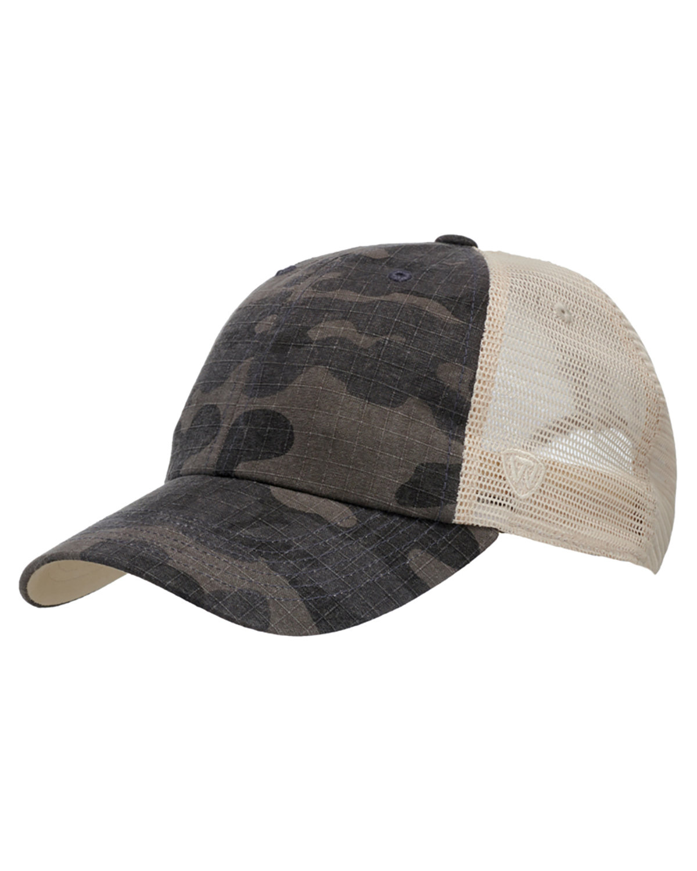 Top Of The World Riptide Ripstop Trucker Hat BLACK CAMO