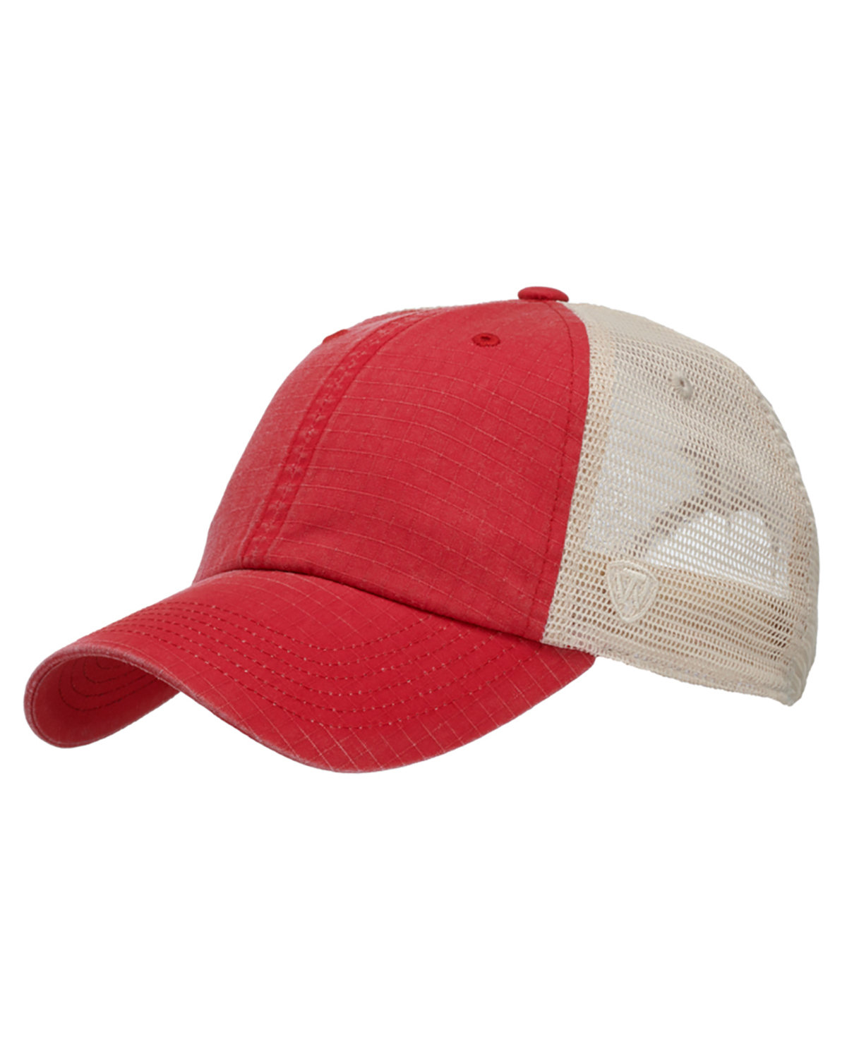 Top Of The World Riptide Ripstop Trucker Hat RED