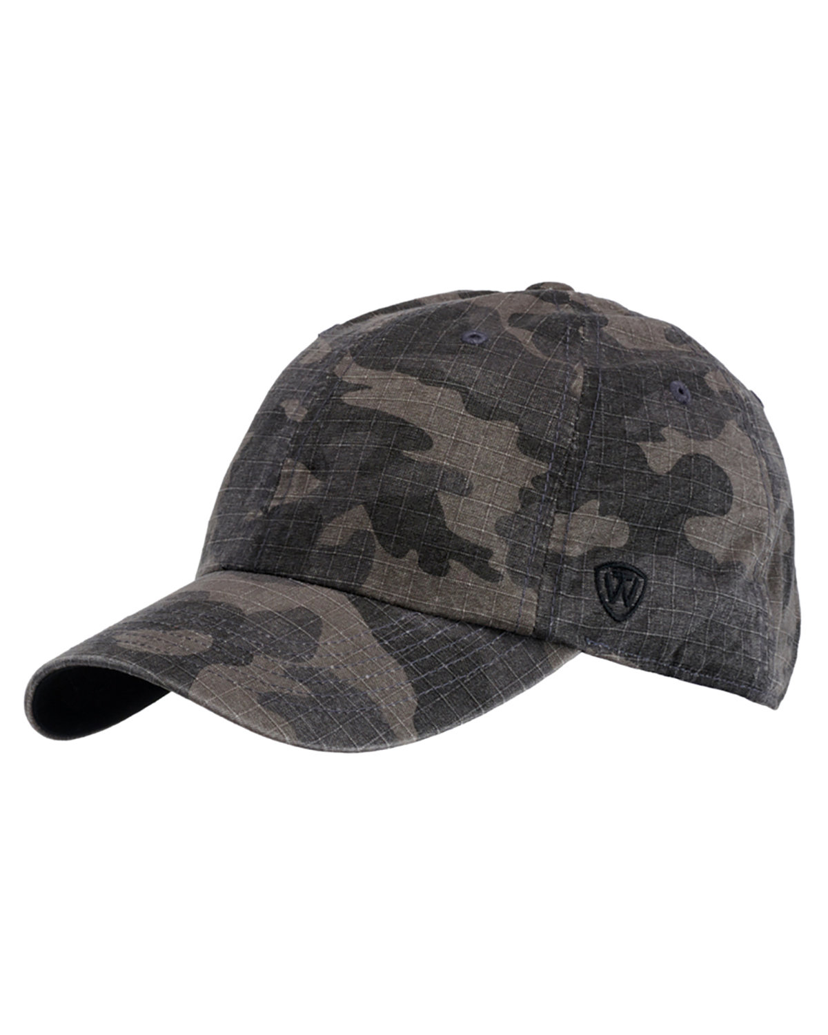 Top Of The World Ripper Washed Cotton Ripstop Hat BLACK CAMO