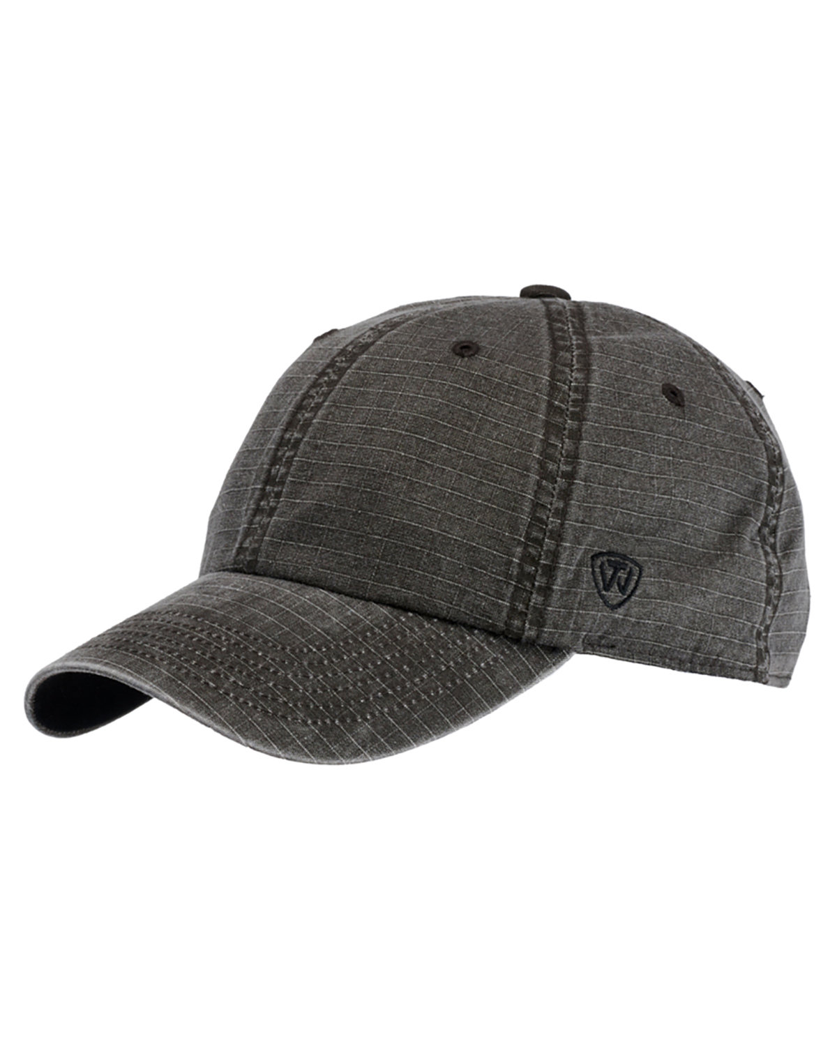 Top Of The World Ripper Washed Cotton Ripstop Hat BLACK