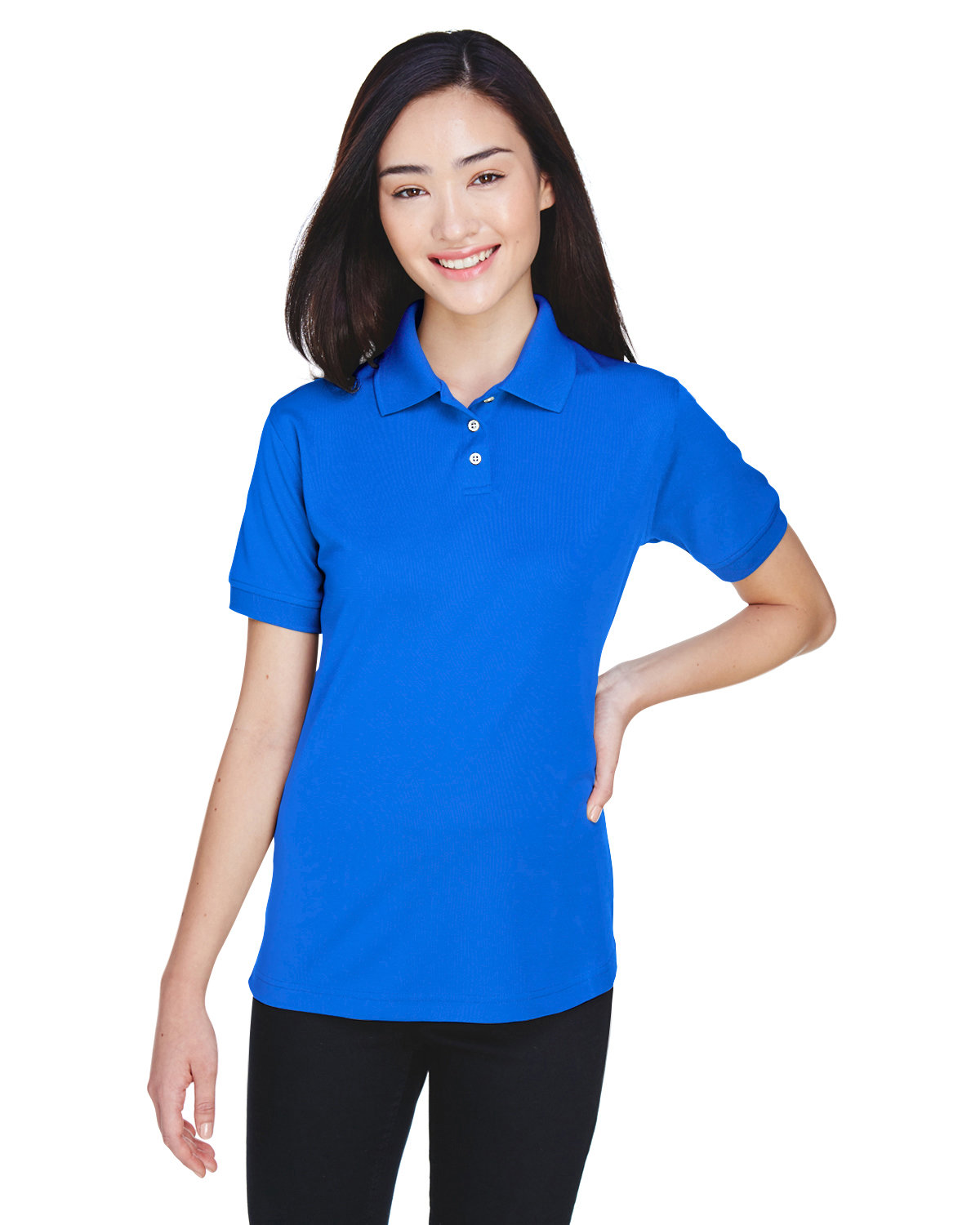 UltraClub Ladies' Platinum Performance Piqué Polo with TempControl Technology ROYAL