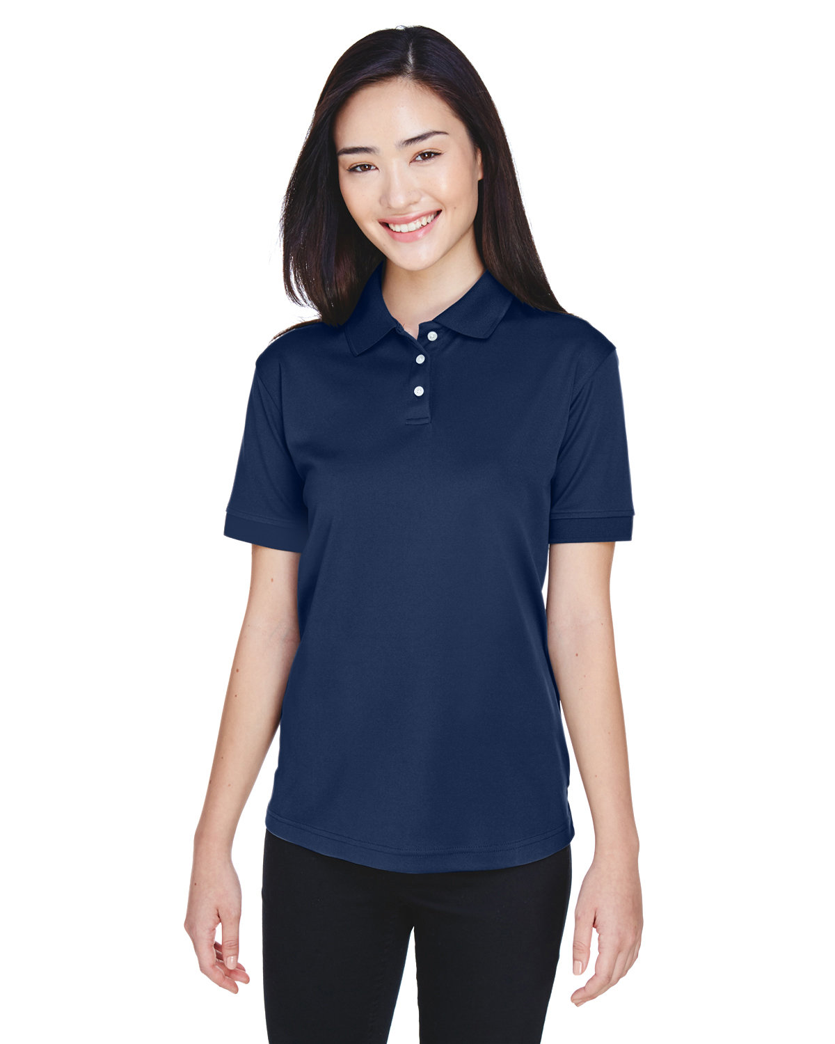 UltraClub Ladies' Platinum Performance Piqué Polo with TempControl Technology NAVY