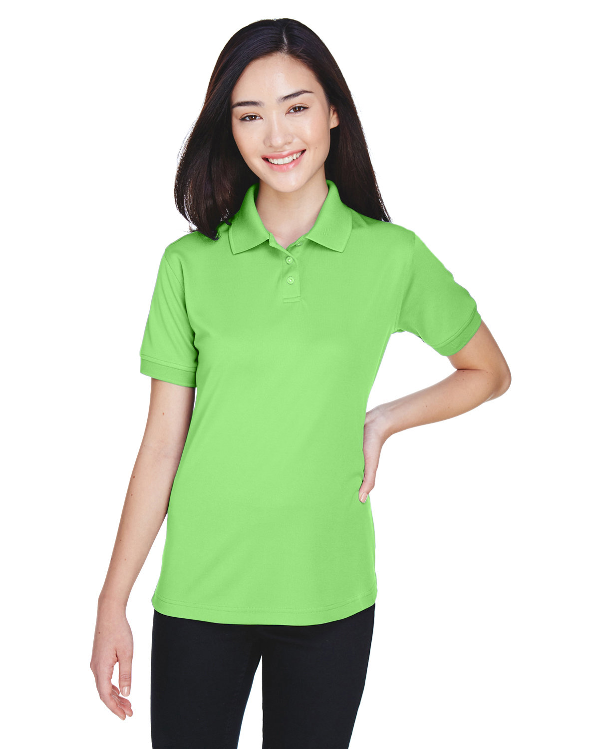 UltraClub Ladies' Platinum Performance Piqué Polo with TempControl Technology LIGHT GREEN