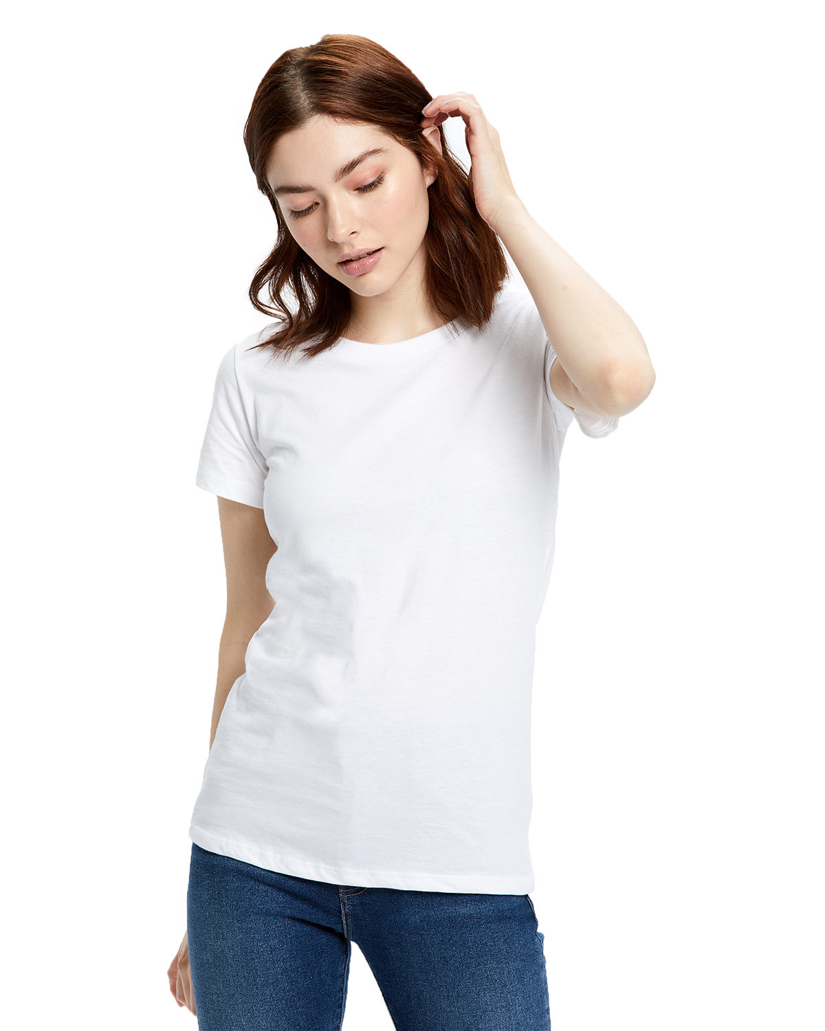 US Blanks Ladies' Made in USA Short Sleeve Crew T-Shirt WHITE