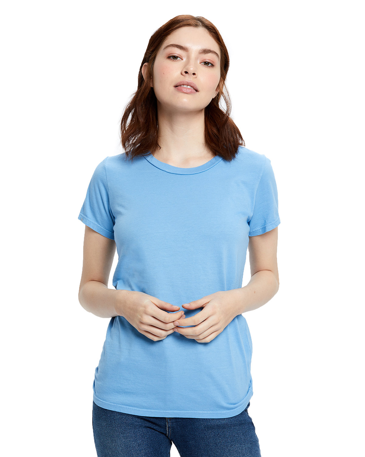 US Blanks Ladies' Made in USA Short Sleeve Crew T-Shirt BIG BLUE