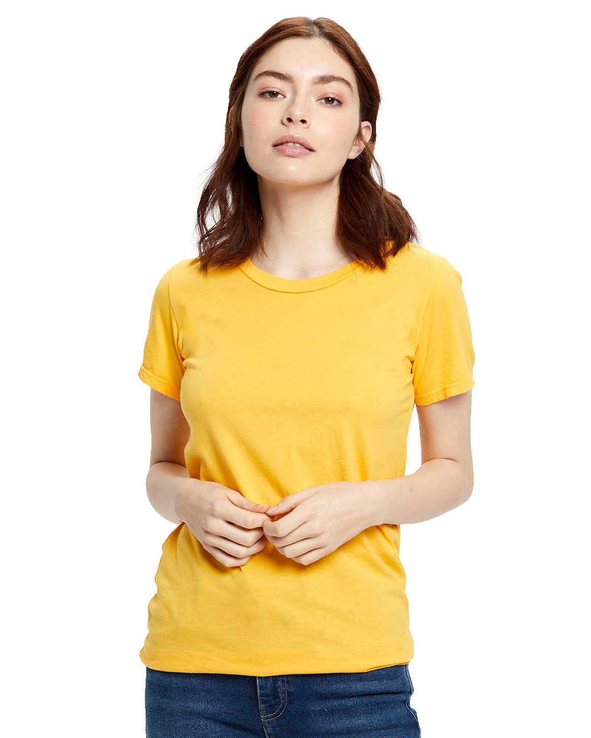 US Blanks Ladies' Made in USA Short Sleeve Crew T-Shirt GOLD