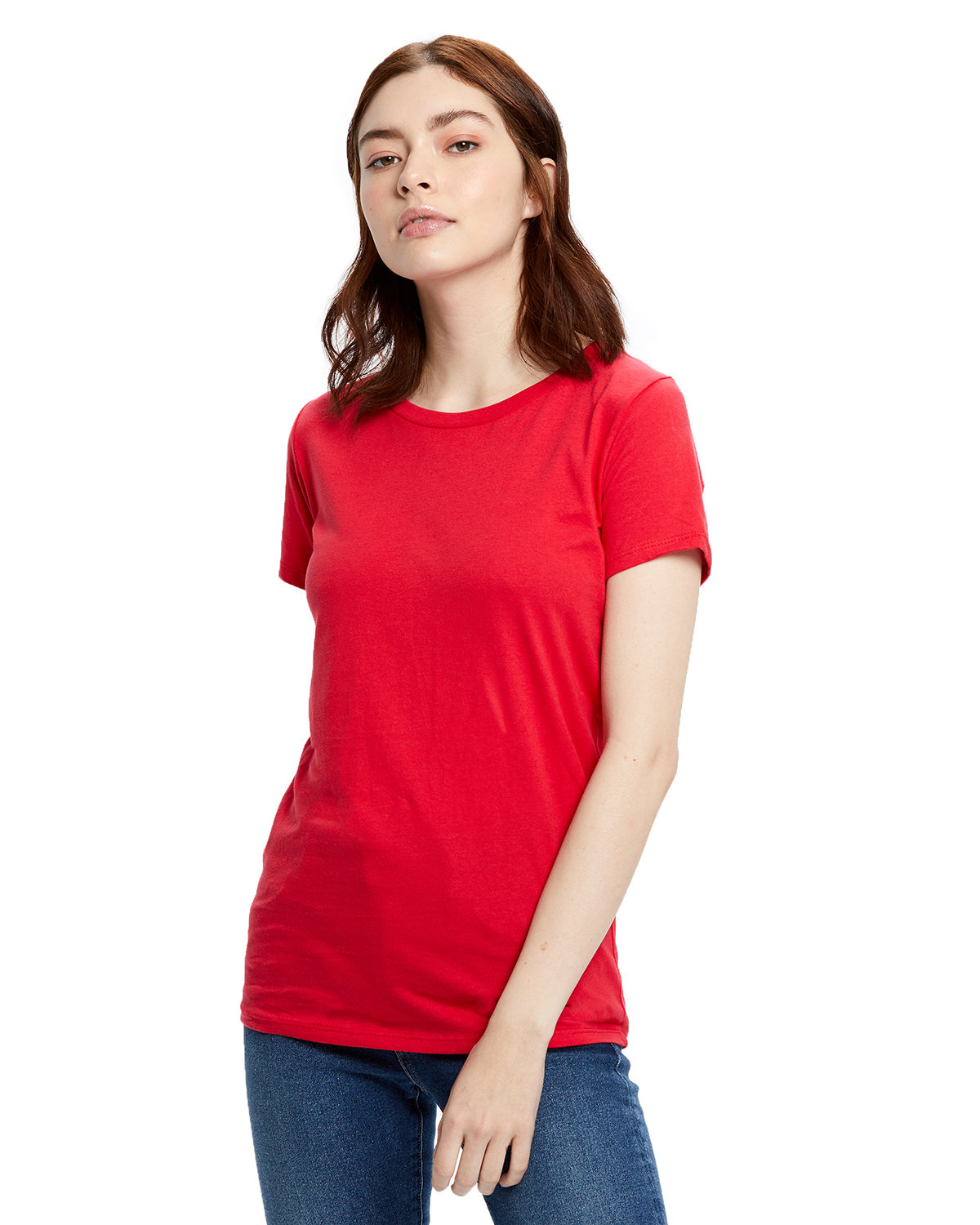 US Blanks Ladies' Made in USA Short Sleeve Crew T-Shirt RED