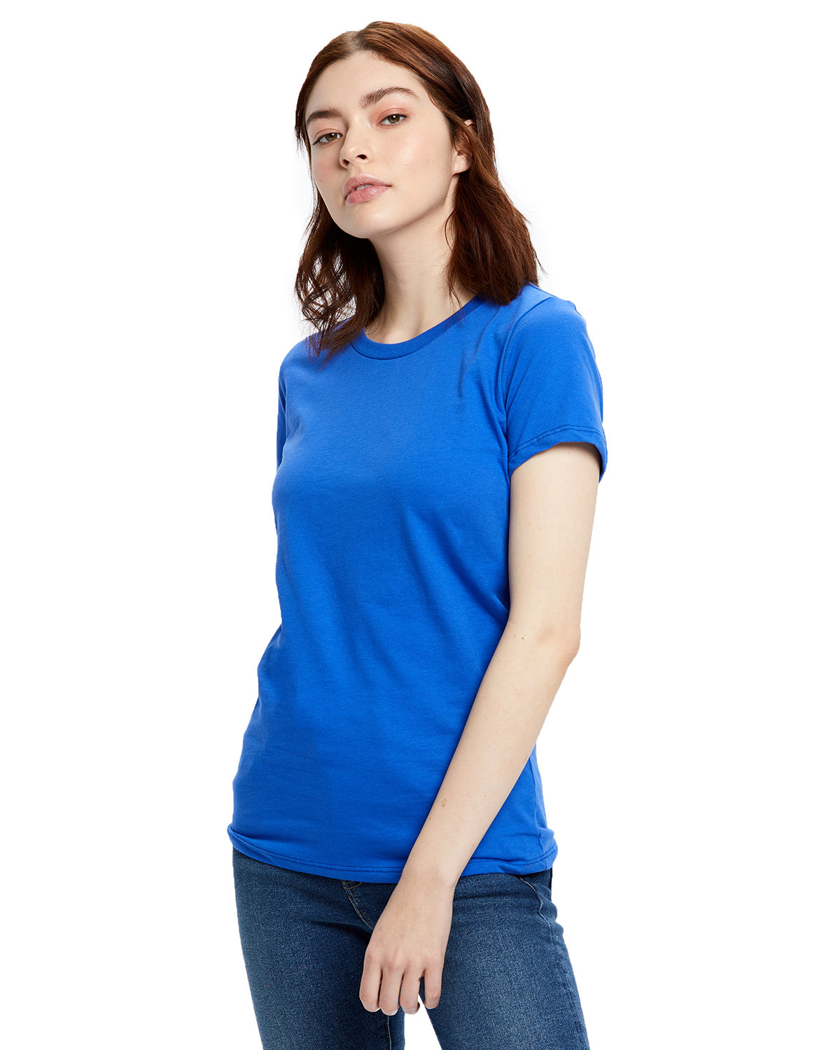 US Blanks Ladies' Made in USA Short Sleeve Crew T-Shirt ROYAL BLUE