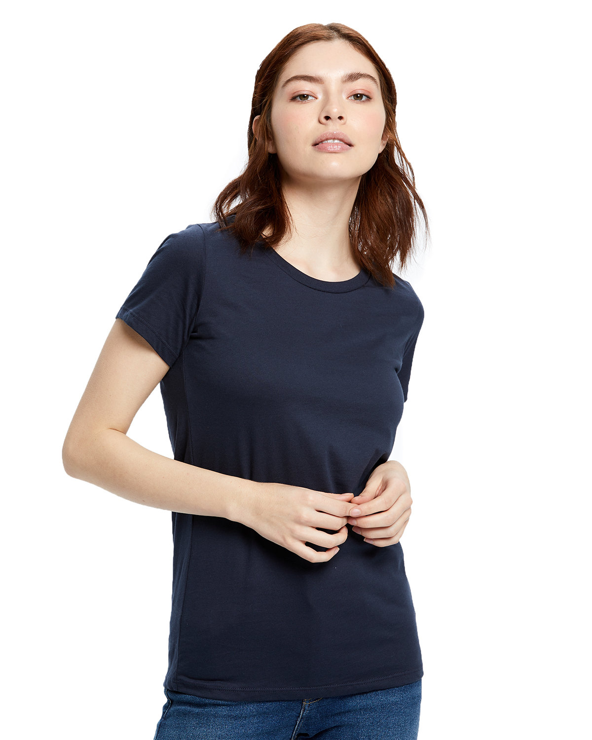 US Blanks Ladies' Made in USA Short Sleeve Crew T-Shirt NAVY BLUE