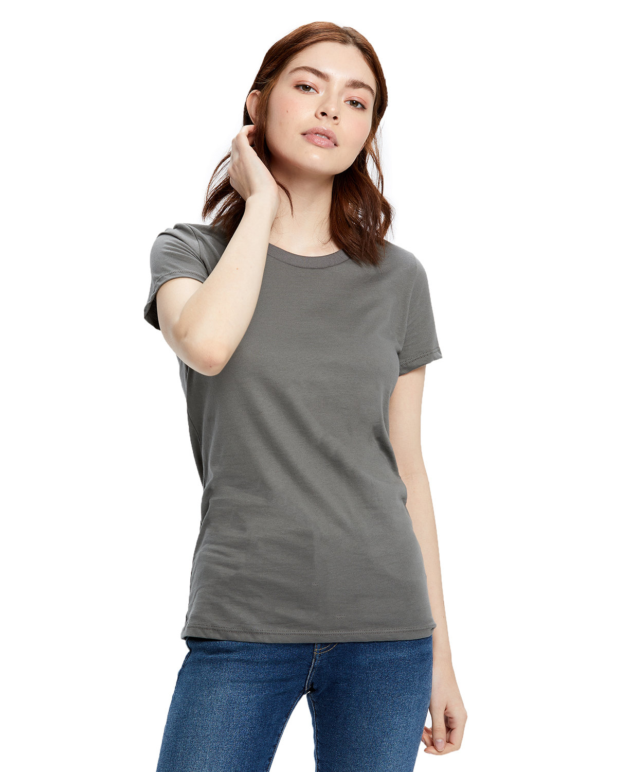US Blanks Ladies' Made in USA Short Sleeve Crew T-Shirt ASPHALT