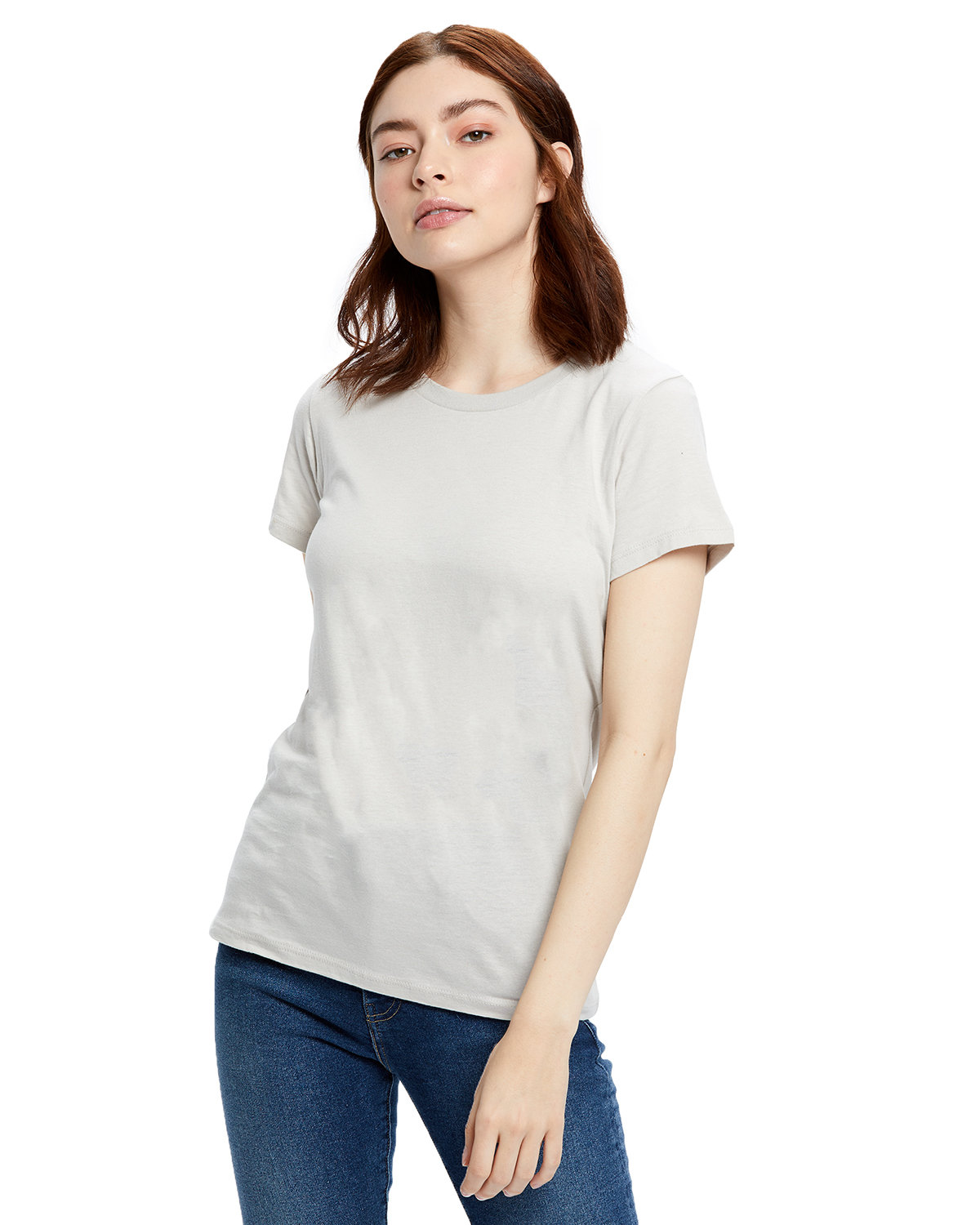 US Blanks Ladies' Made in USA Short Sleeve Crew T-Shirt SILVER