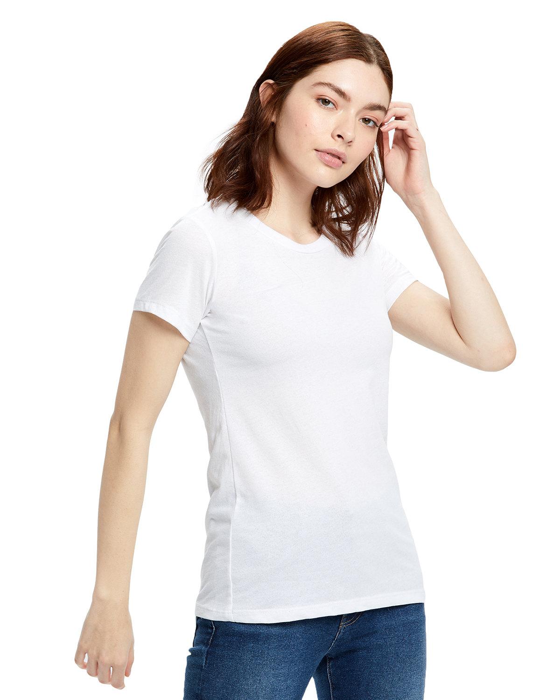 US Blanks Ladies' Organic Crewneck T-Shirt WHITE
