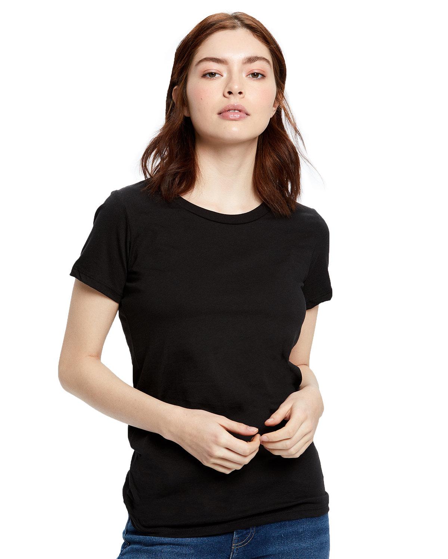 US Blanks Ladies' Organic Crewneck T-Shirt BLACK