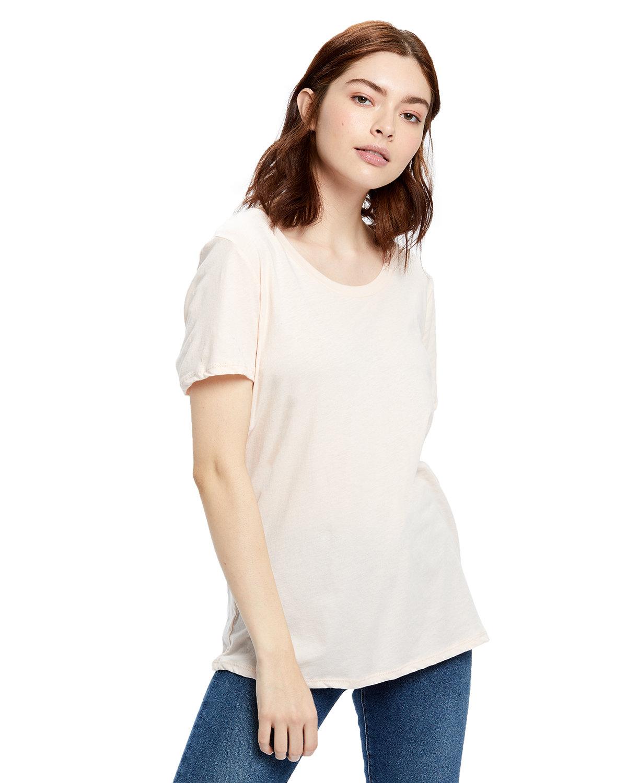US Blanks Ladies' Short-Sleeve Loose Fit Boyfriend Tee LIGHT ROSE PINK