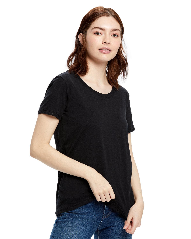 US Blanks Ladies' Short-Sleeve Loose Fit Boyfriend Tee BLACK