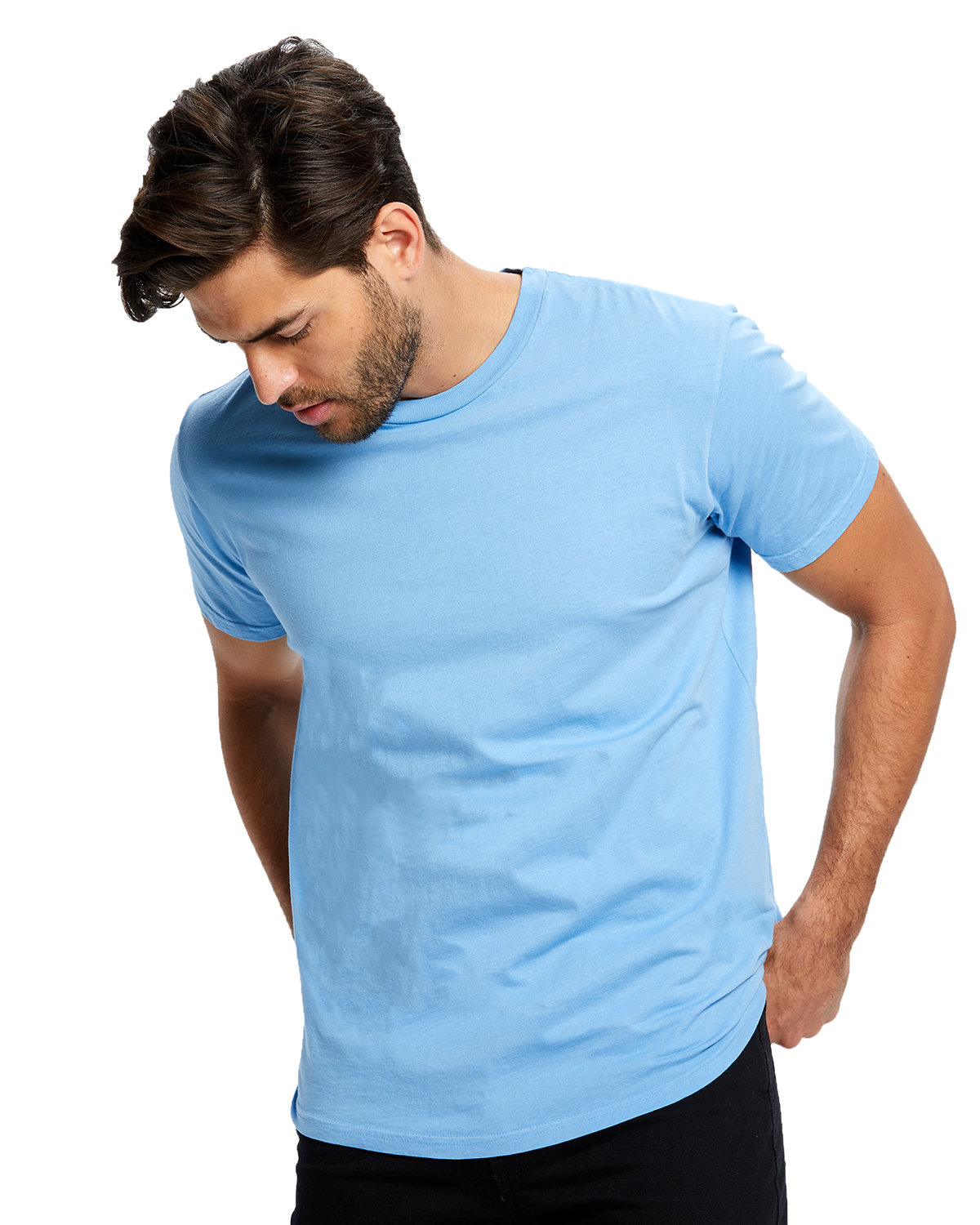 US Blanks Men's Made in USA Short Sleeve Crew T-Shirt BIG BLUE