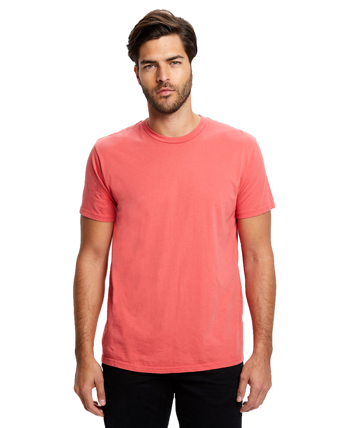 US Blanks Men's Made in USA Short Sleeve Crew T-Shirt CORAL