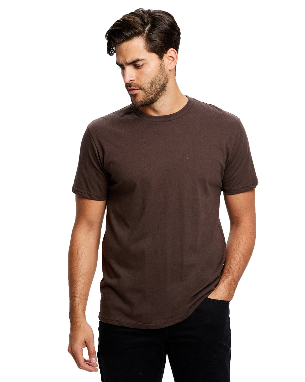 US Blanks Men's Made in USA Short Sleeve Crew T-Shirt BROWN