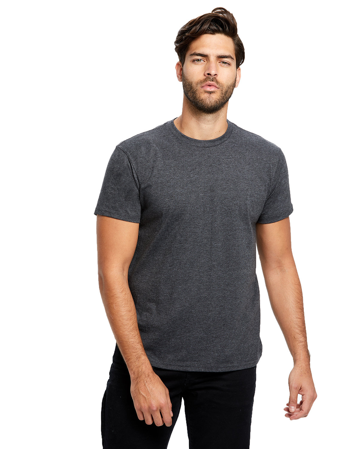 US Blanks Men's Made in USA Short Sleeve Crew T-Shirt HEATHER CHARCOAL