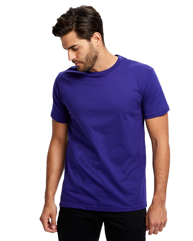 US Blanks Men's Made in USA Short Sleeve Crew T-Shirt LAKER PURPLE