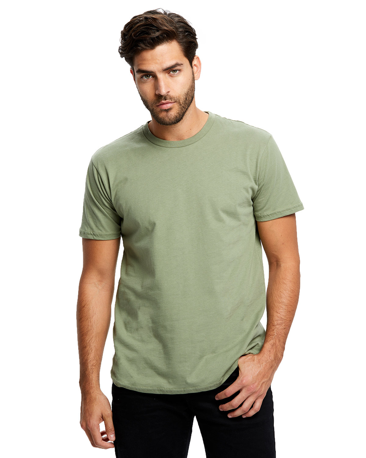 US Blanks Men's Made in USA Short Sleeve Crew T-Shirt OLIVE