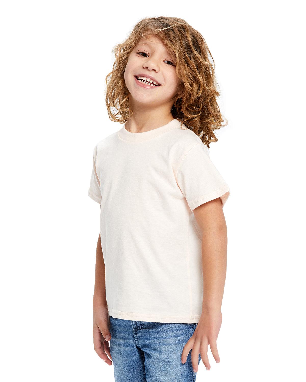 US Blanks Toddler Organic Cotton Crewneck T-Shirt LIGHT PINK