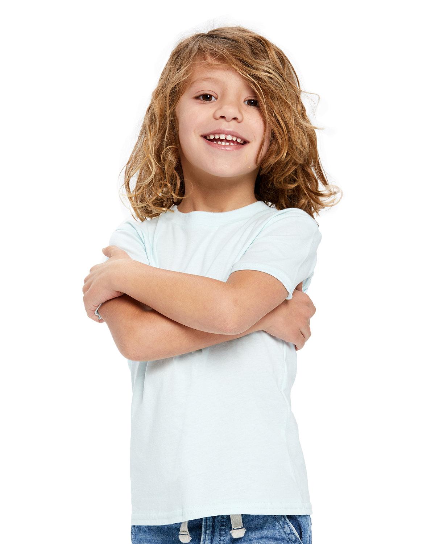 US Blanks Toddler Organic Cotton Crewneck T-Shirt LIGHT BLUE