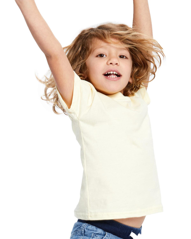 US Blanks Toddler Organic Cotton Crewneck T-Shirt LIGHT YELLOW