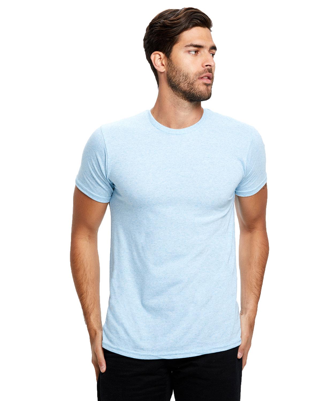 US Blanks Men's Short-Sleeve Made in USA Triblend T-Shirt TRI LIGHT BLUE