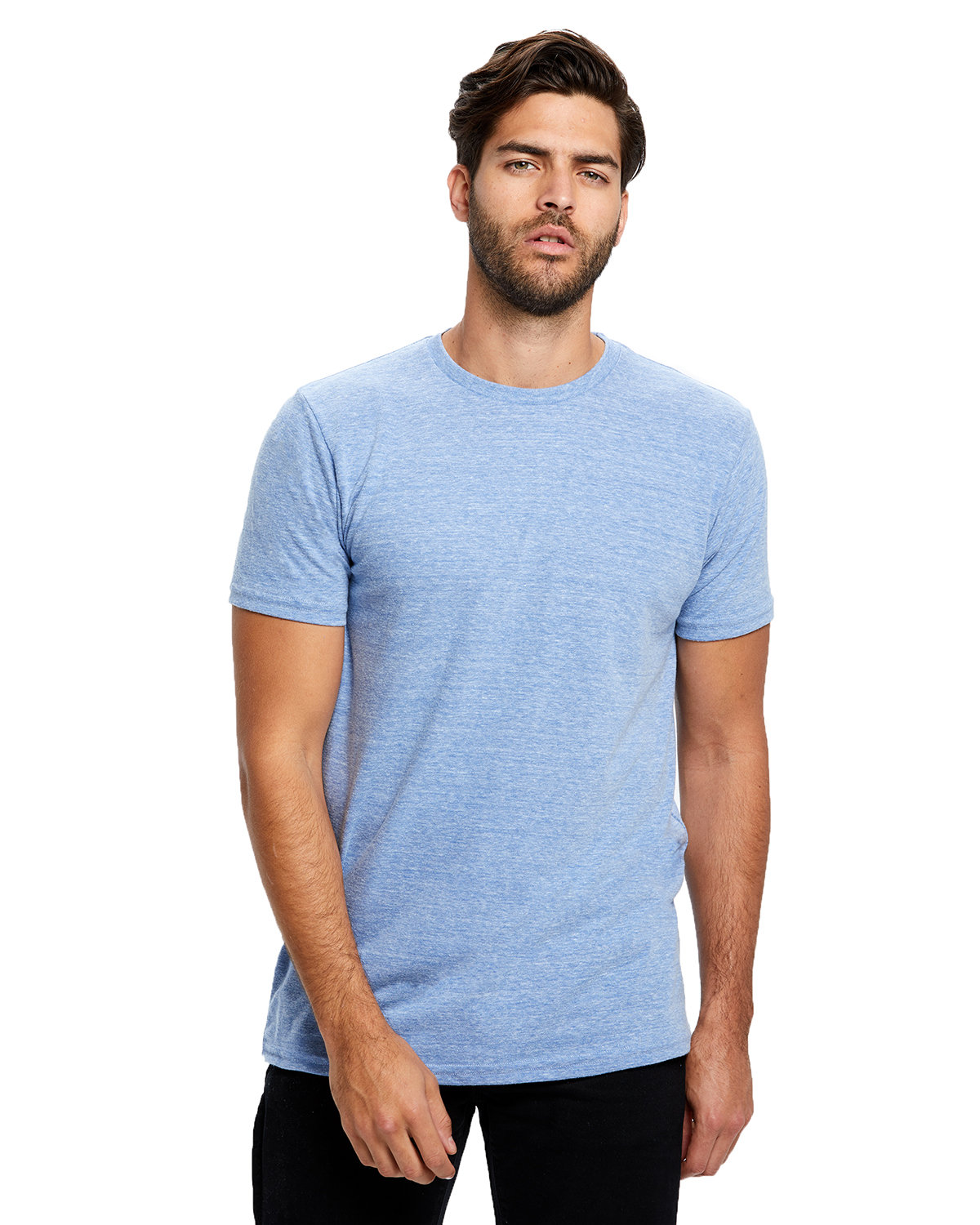 US Blanks Men's Short-Sleeve Made in USA Triblend T-Shirt TRI BLUE
