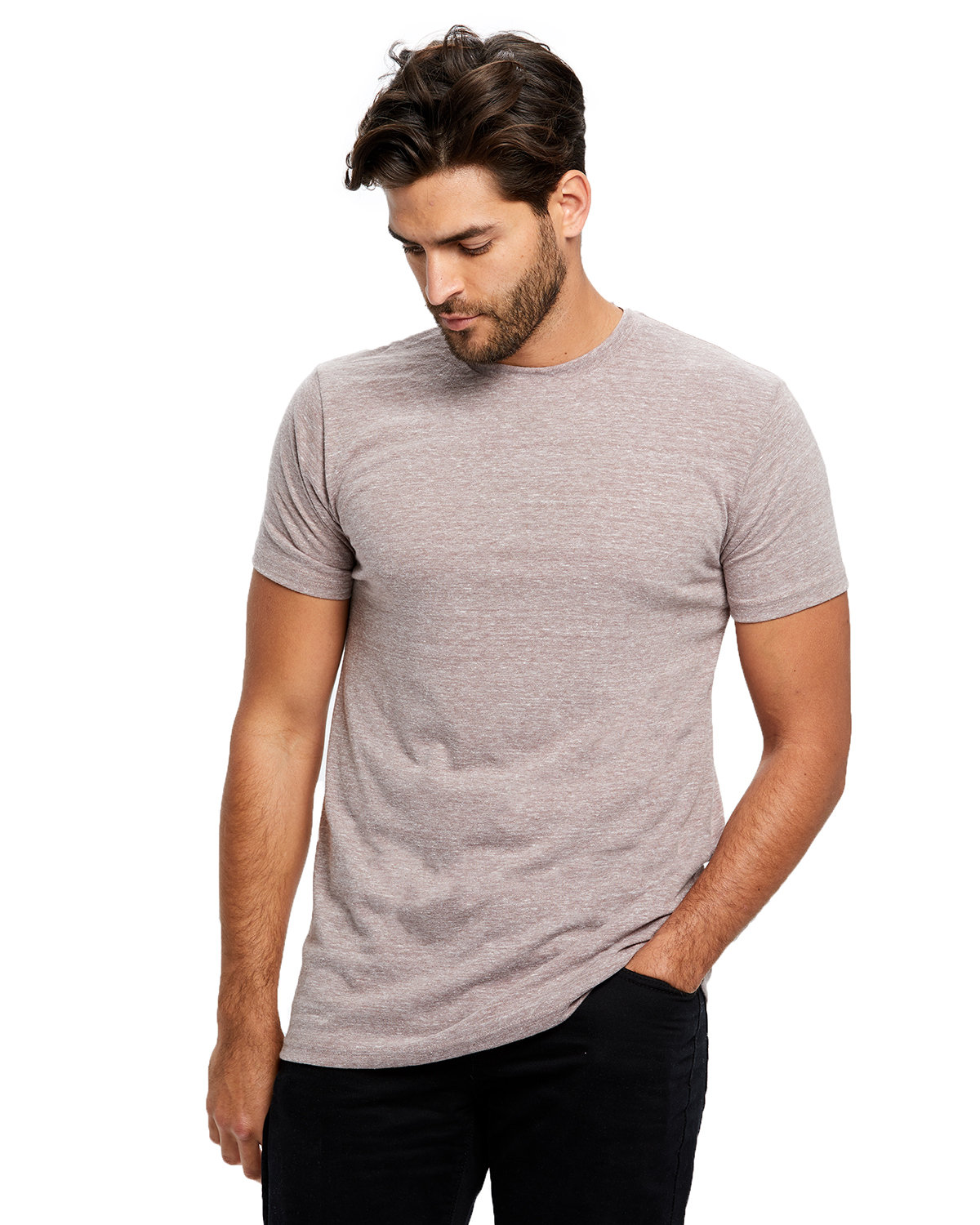 US Blanks Men's Short-Sleeve Made in USA Triblend T-Shirt TRI BROWN