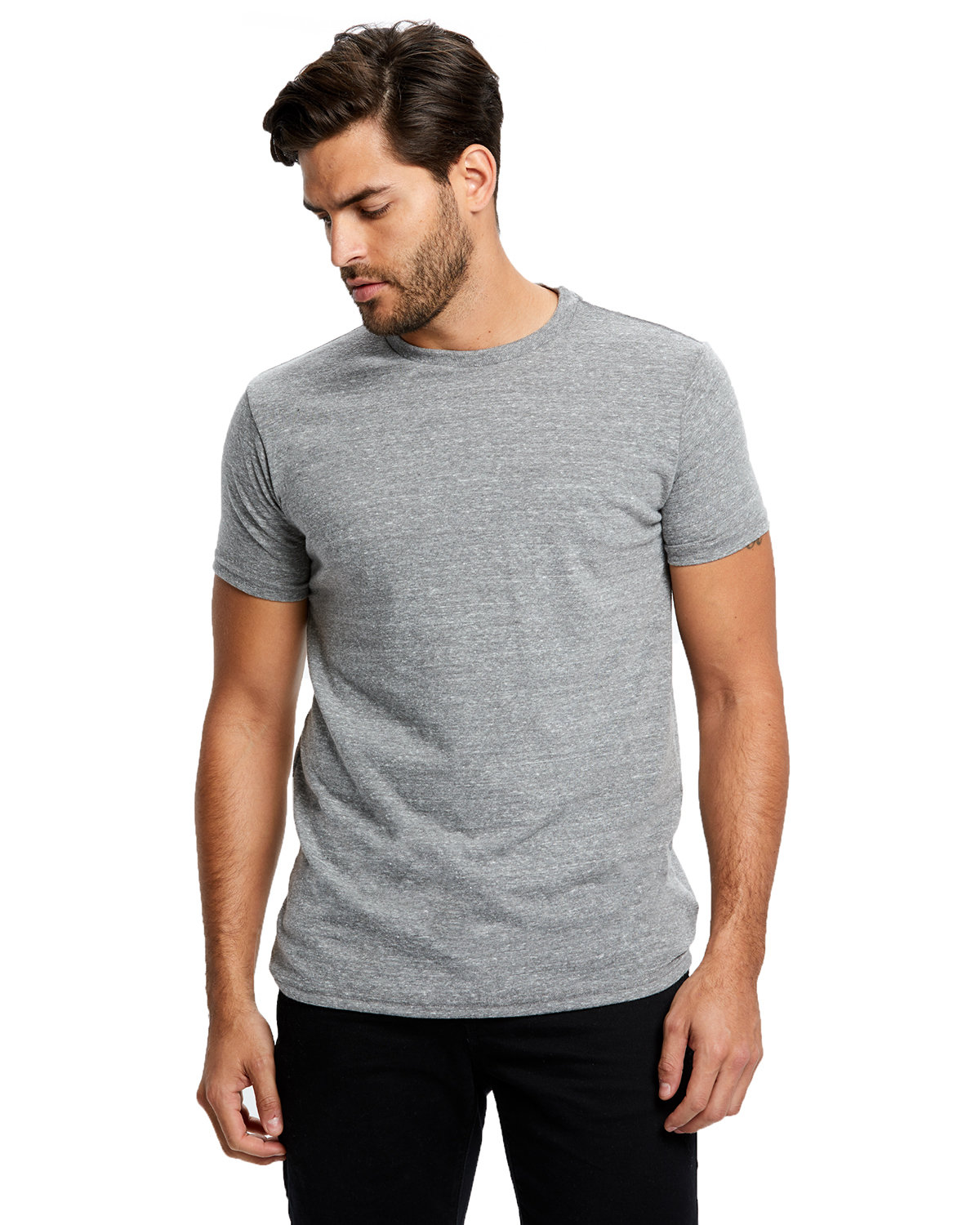 US Blanks Men's Short-Sleeve Made in USA Triblend T-Shirt TRI GREY
