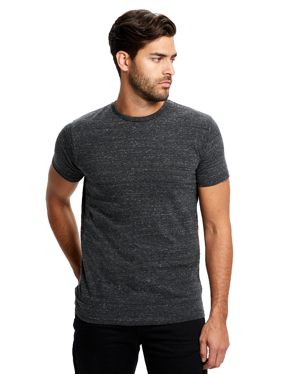 US Blanks Men's Short-Sleeve Made in USA Triblend T-Shirt TRI CHARCOAL