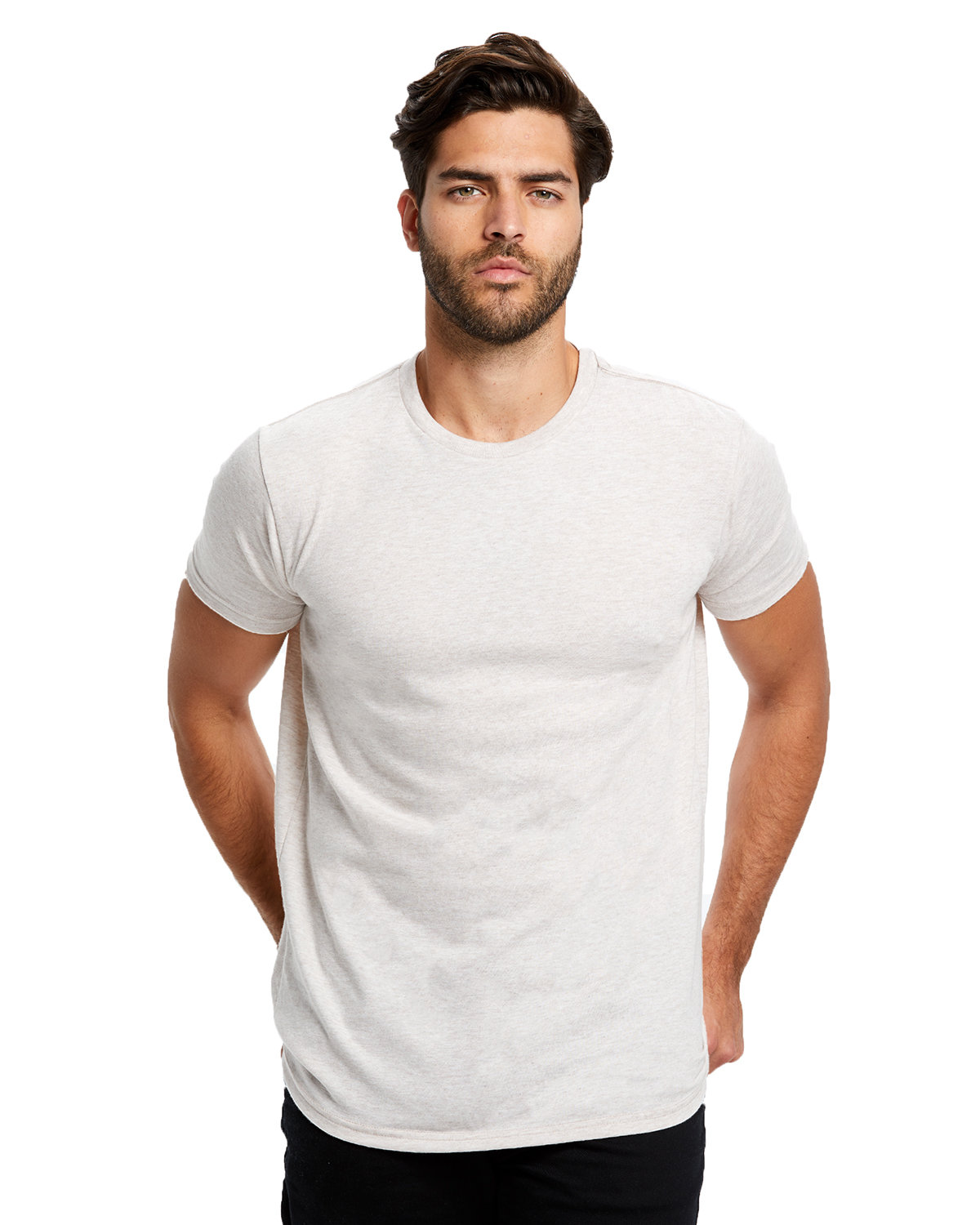 US Blanks Men's Short-Sleeve Made in USA Triblend T-Shirt TRI OATMEAL