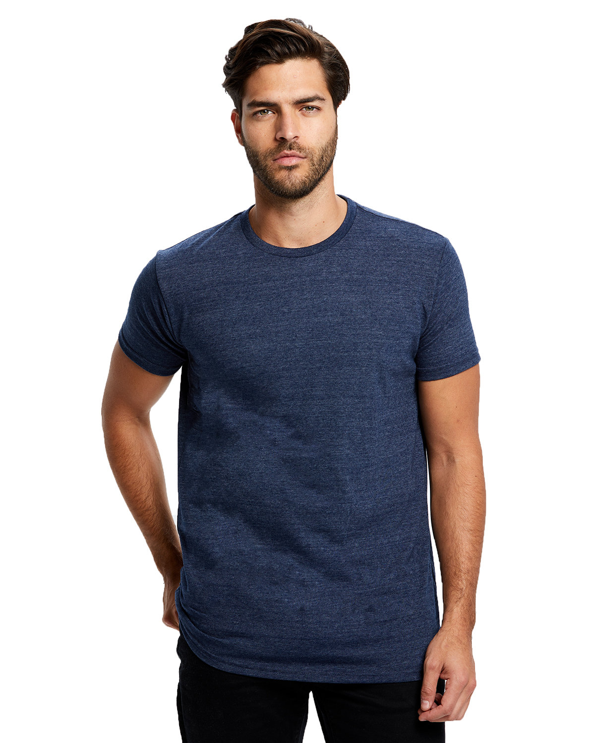 US Blanks Men's Short-Sleeve Made in USA Triblend T-Shirt TRI NAVY