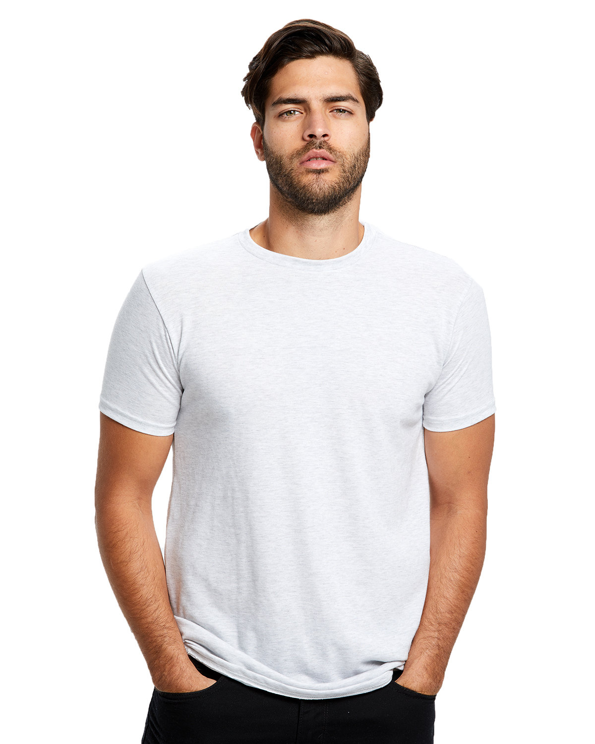 US Blanks Men's Short-Sleeve Made in USA Triblend T-Shirt ASH