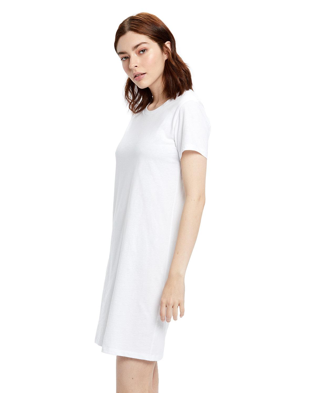 US Blanks Ladies' Cotton T-Shirt Dress WHITE
