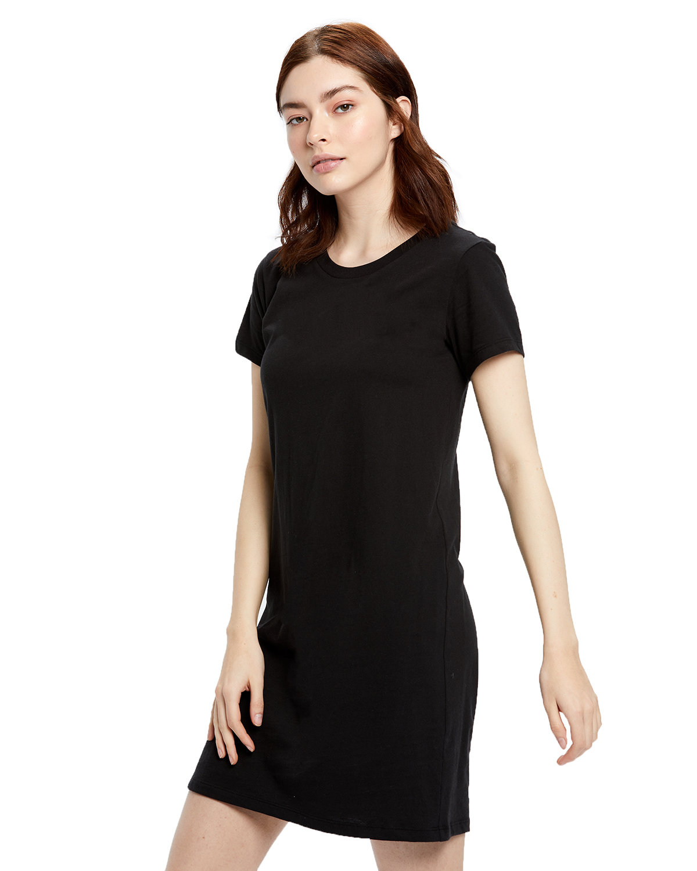 US Blanks Ladies' Cotton T-Shirt Dress BLACK