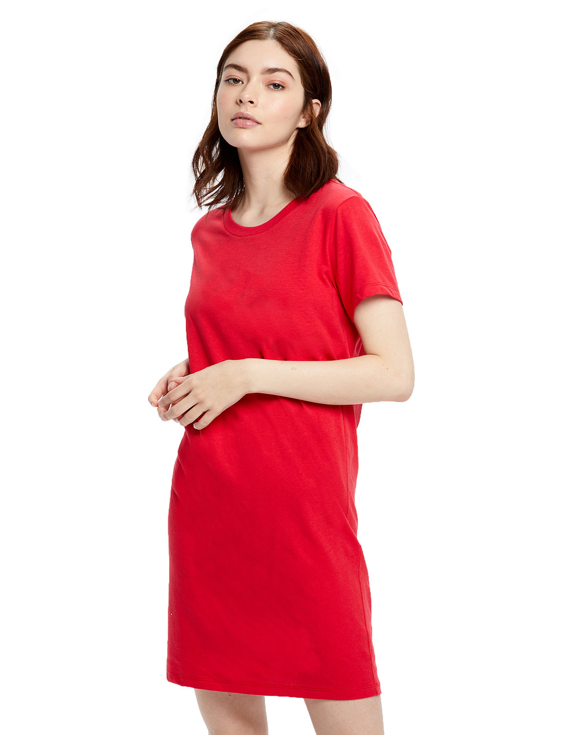US Blanks Ladies' Cotton T-Shirt Dress RED